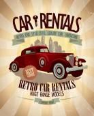 Retro car rentals design