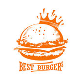 Best burgers graphic logo