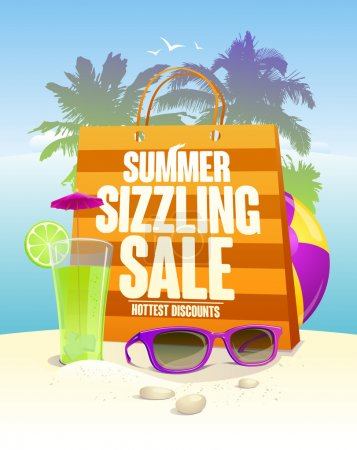 Hottest summer sizzling sale design with shopping bag
