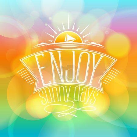 Enjoy sunny days, happy vacation card