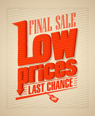 Final sale low prices design