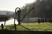 Crane on Cotehele Quay, River Tamar