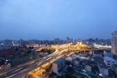 Shanghai city overpass at night