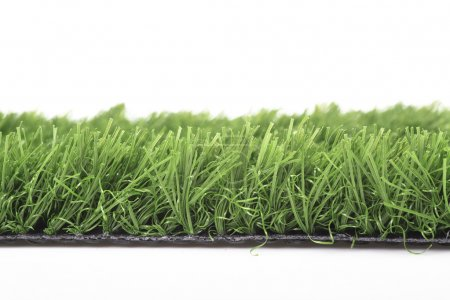 Plastic lawn on a white background