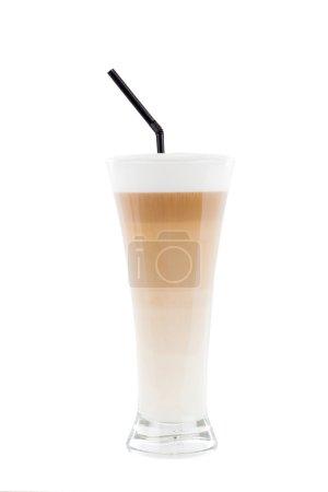 Tasty latte macchiato.
