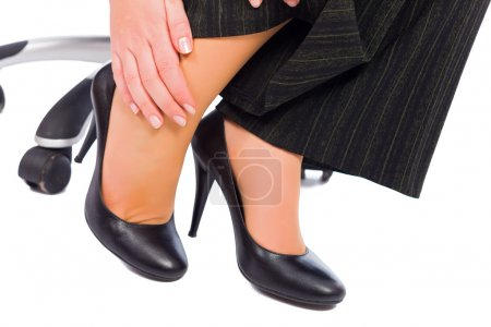 Hurting feet while wearing high heels all day