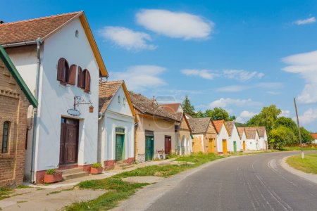 Photo for A traditional old street from Villany, Baranya county, Hungary full with wineries, vineyards and wine cellars. - Royalty Free Image