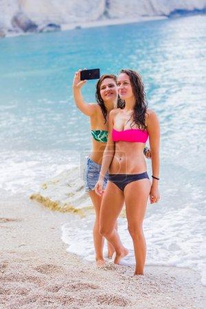 Selfie time on the beach