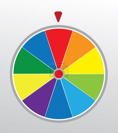 Illustration for Vector illustration of a wheel of fortune - Royalty Free Image