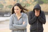 Teenager couple break up