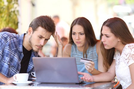 Friends buying online with credit card problems