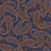 It is an illustration of the paisley This painting continues repeatedly It is a vector work