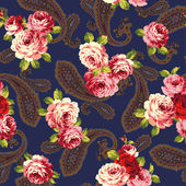 Rose and paisley pattern This painting continues repeatedly I worked in vectors