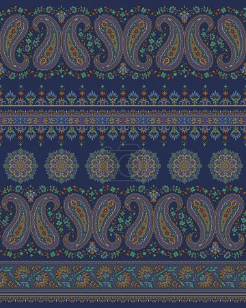 Illustration for Paisley design It is an illustration of the paisley This painting continues repeatedly It is a vector work - Royalty Free Image