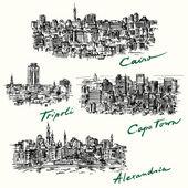 Cairo Tripoli Cape Town Alexandria