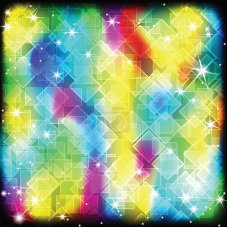 Illustration for Colorful geometric shimmering background - Royalty Free Image