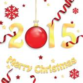 Happy new year background with Christmas bauble