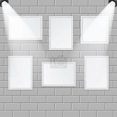Art gallery and spotlights with place for your design