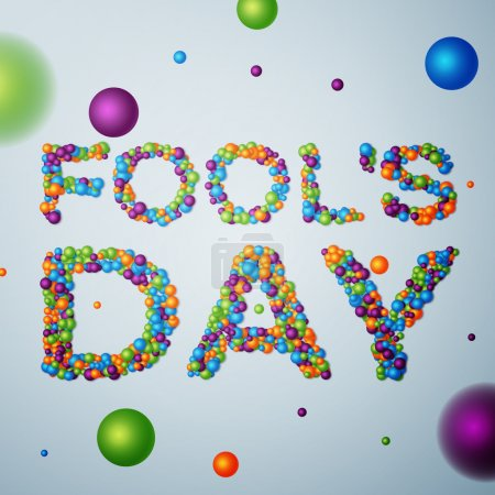 Illustration for April Fools Day background, calendar date April 1. Vector illustration, EPS 10 - Royalty Free Image