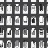 Pattern with various of nail designs Vector illustration EPS 10