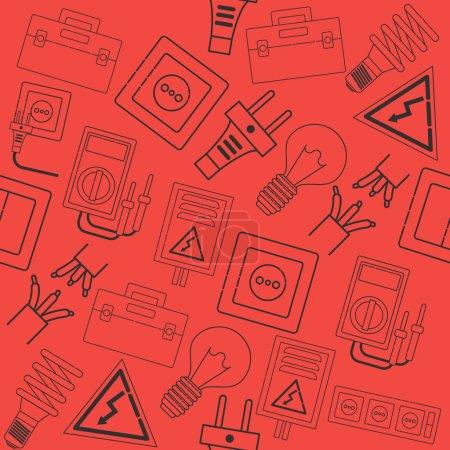 Illustration pour Électricité icônes collage. Illustration vectorielle SPE 10 - image libre de droit