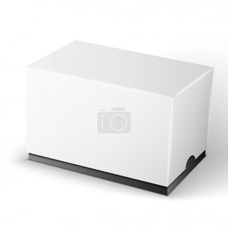 Illustration for White Product Package Box Illustration Isolated On White Background. Product Packing Vector - Royalty Free Image