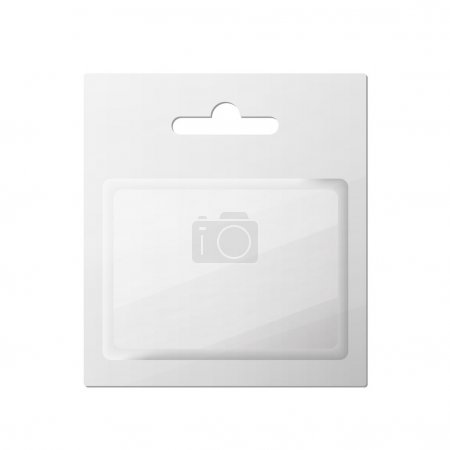 Plastic Transparent Blister With Hang Slot, Product Package. Ill