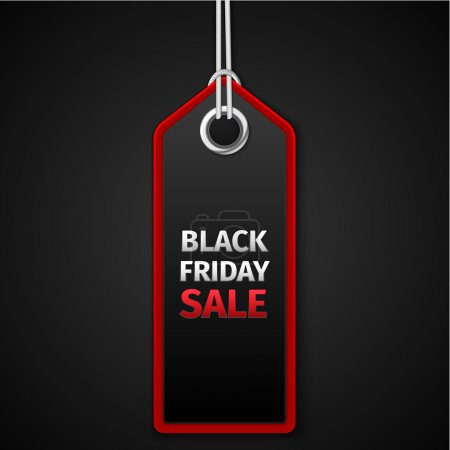 Illustration for Black Friday sales tag. EPS 10 vector - Royalty Free Image