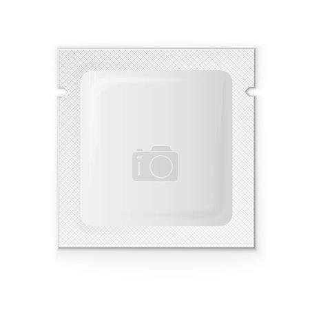 Blank white plastic sachet