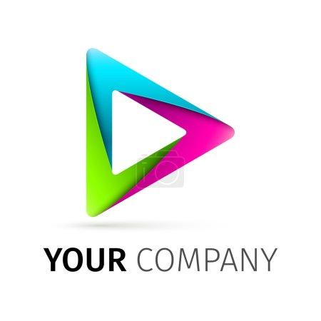 Illustration pour Logotype de jeu vectoriel coloré abstrait - image libre de droit