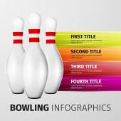Bowling pins isolated on white background excellent vector illustration EPS 10