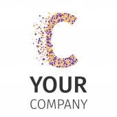 Alphabet particles logotype, Letter-C
