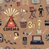 Colored Hand drawn cinema pattern