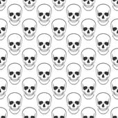 Vector pattern with skulls on white background Vector illustration