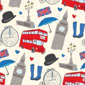 Vector hand drawn London pattern