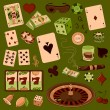Постер, плакат: Hand drawn Casino icons set