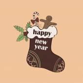 Christmas and New year logo emblem