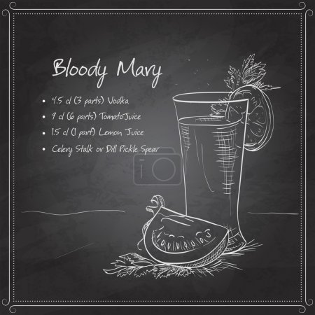 Bloody Mary on black board