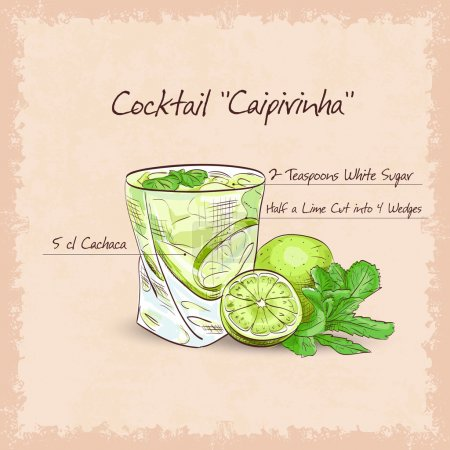 Caipirinha scetch - National Cocktail
