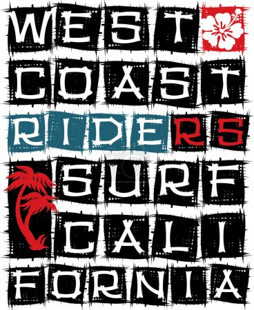 West coast surf riders