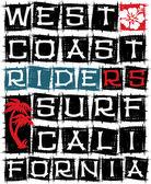 West coast surf riders