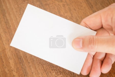 Photo pour Main tenant une carte de visite, stock photo - image libre de droit