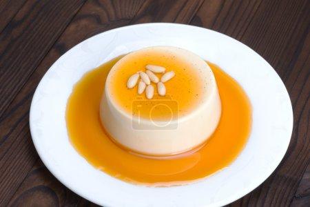 Panna cotta. An Italian dessert of sweetened cream...