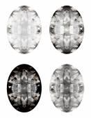 vector set of diamonds isolated