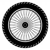 Image of wheel vector isolate on white