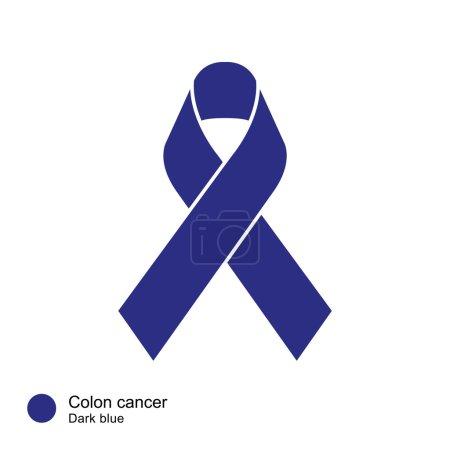 colon cancer ribbon vector
