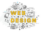Hand Drawn Style Business Design Pencil Sketch Set of application development web site coding information and mobile technologies  icons and elements  web design  concept
