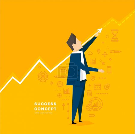 Businessman and business success concept