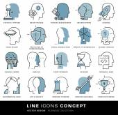 Brain Mind Icons Set