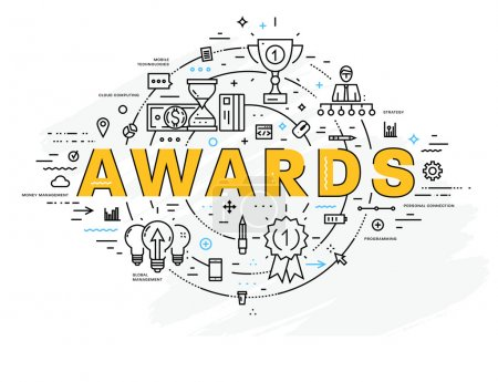 awards  icons and elements